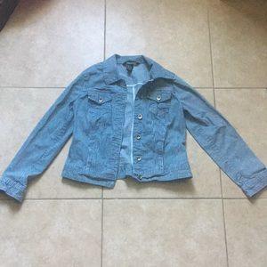 Striped Jean Jacket